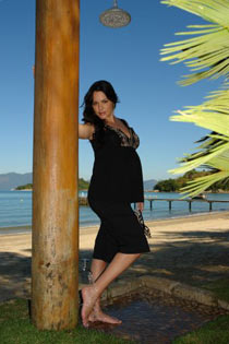 Diana Bouth Grávida como Modelo da Zazou